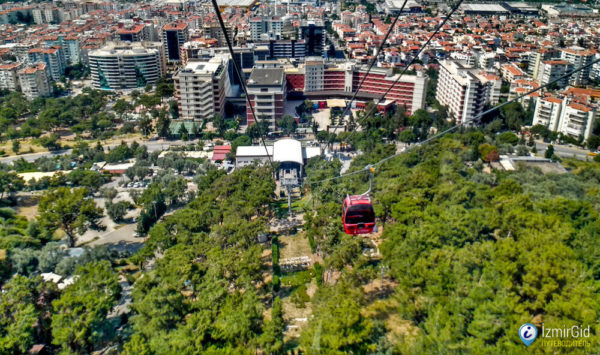 Панорама на город с канатной дороги в Измире