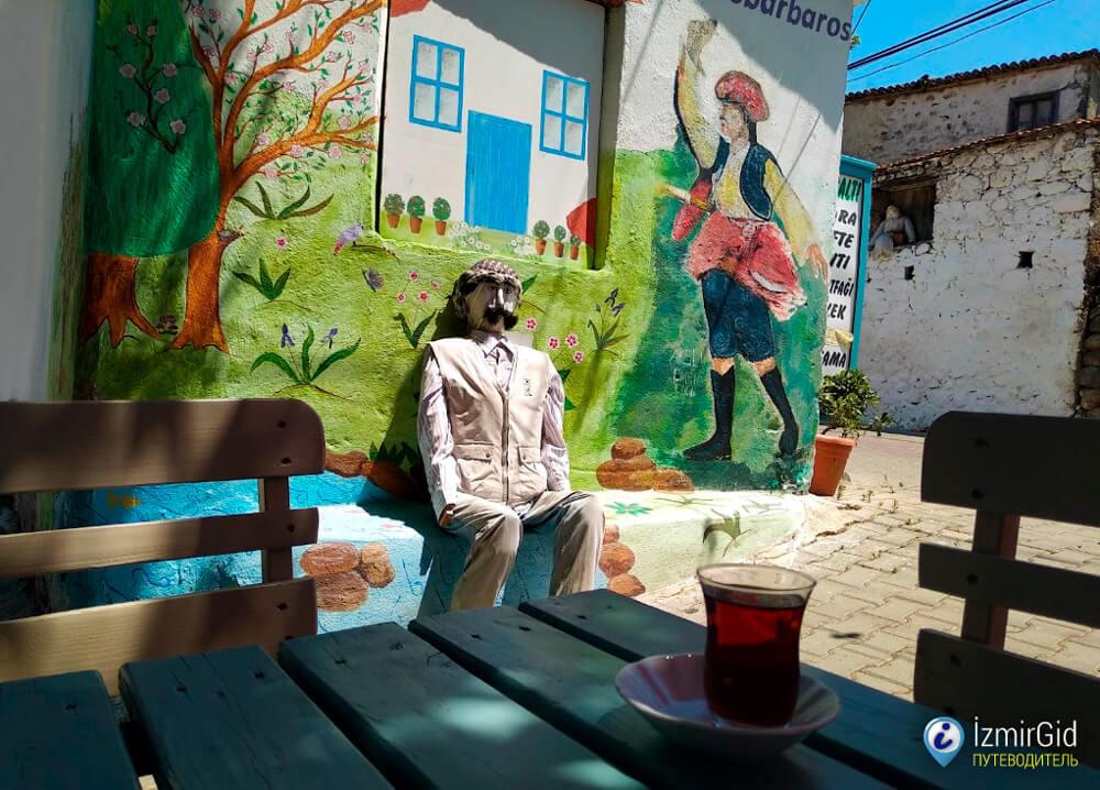 Кафе Чынаралты (Çınaraltı), деревня Барбарос, Измир